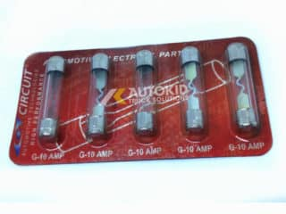 FUSE GLASS 10AMP 5PCS/PACK | S#00091
