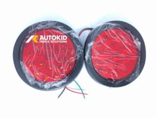 TAIL LIGHT LED ROUND RED 2PC/BOX STL-136L | BP#00142