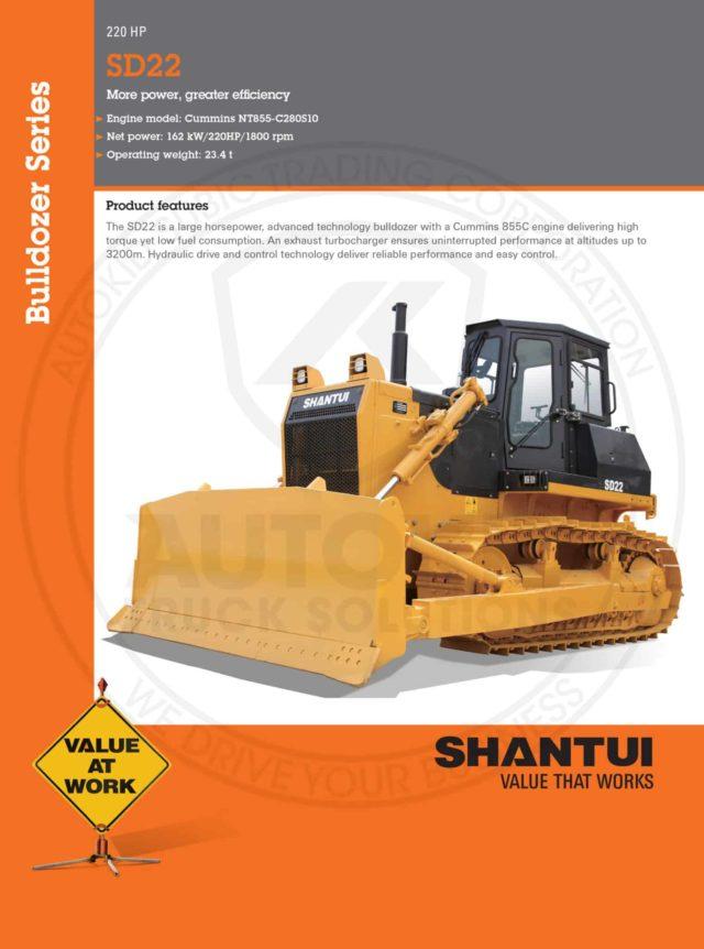 Shantui SD22 Specs 01